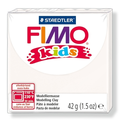 FIMO kids modelling clay, white, box of 8 picture