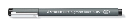 STAEDTLER pigment liner fineliner 0.05mm black, box of 10 picture