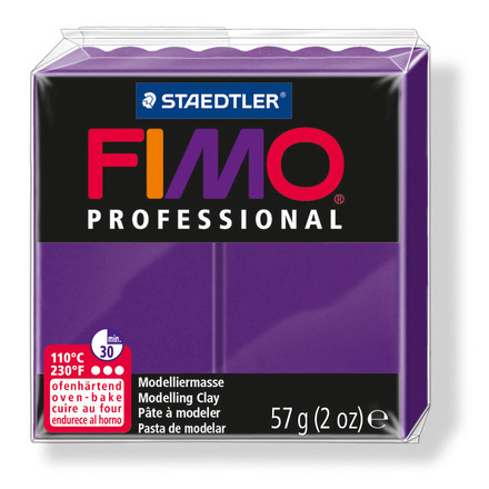 FIMO professional modelling clay, purple, box of 6 picture
