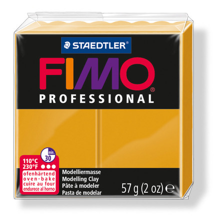 FIMO professional modelling clay, ochre, box of 6 picture