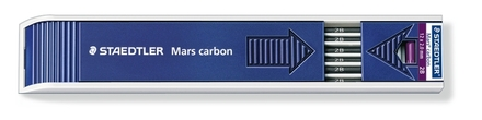 Mars carbon lead, tray of 12 - 2B picture