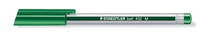 Ball 432 ballpoint pen, Medium green, box of 10