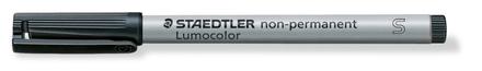 Lumocolor non-permanent universal pen, Supr-Fine Black, box of 10 picture