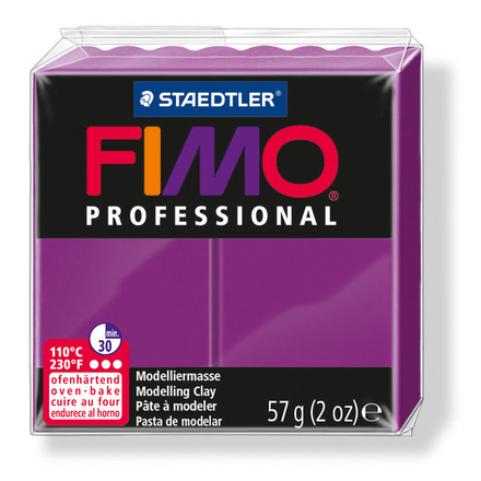 FIMO professional modelling clay, violet, box of 6 picture