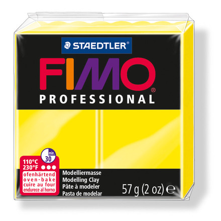 FIMO professional modelling clay, lemon yellow, box of 6 picture