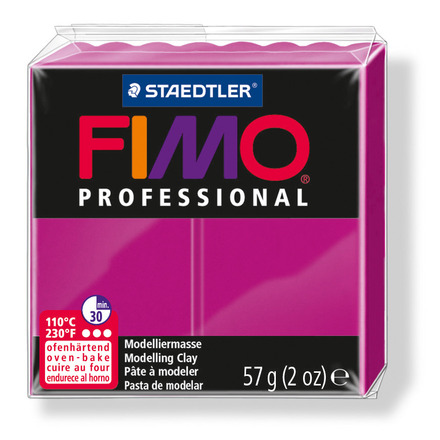 FIMO professional modelling clay, true magenta, box of 6 picture