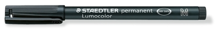 Lumocolor permanent universal pen, Medium Black, box of 10 picture