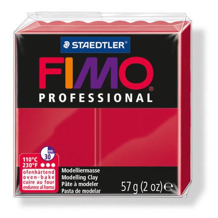 FIMO professional modelling clay, carmine, box of 6 picture