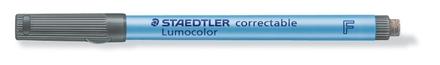 Lumocolor correctable 305 Non-permanent dry erase pen, F Black (box of 10) picture