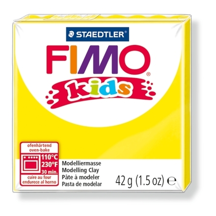 FIMO kids modelling clay, yellow, box of 8 picture