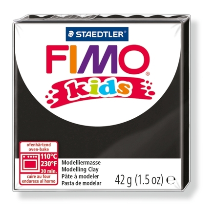 FIMO kids modelling clay, black, box of 8 picture