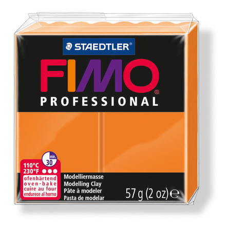 FIMO professional modelling clay, orange, box of 6 picture