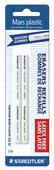 Mars plastic stick eraser refills 2pk, blistercard