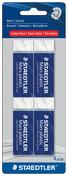 Mars plastic premium eraser, 4pc blistercard