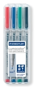 Lumocolor non-permanent universal pen, Fine set of 4