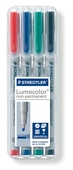 Lumocolor non-permanent universal pen, Broad set of 4