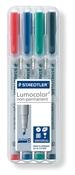 Lumocolor non-permanent universal pen, Broad set of 4
