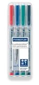Lumocolor non-permanent universal pen, Supr-Fine set of 4