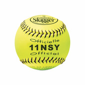 PACK OF 12 - SOFTBALL 11'' NSA SYNTHETIC YELLOW