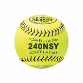 PACK OF 12 - SOFTBALL 12'' NSA SYNTHETIC YELLOW