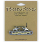 "TP6G - TonePros Standard Tuneomatic (small posts, notched ""G Formula"" saddles)"