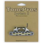 "TP6G - TonePros Standard Tuneomatic (small posts, notched ""G Formula"" saddles)"