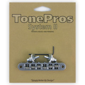 "TP6R - TonePros Standard Tuneomatic (small posts, ""Roller"" saddles)"