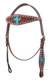 Inlay Cross Turquoise Hair