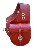 Smooth Leather Saddle Bag - Chestnut