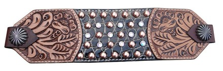 Copper and Crystal Spots Bronc Noseband picture