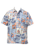 Aloha Button Down Royal