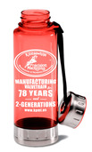 Custom BPA-Free Acrylic/ Stainless Steel Sport Bottle, Red, 23oz.