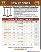 KPMI® Tensilite® Titanium Valve Blank Flyer