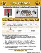 Solid Tappet Conv. Valve Spring Kit Flyer for BRP® Rotax ®  ACE 900cc Triple Engines 2014-2020