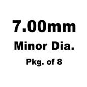 Lash Cap, HT Steel, 7.00mm Minor Dia.,Pkg. of 8