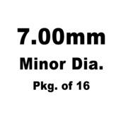 Lash Cap, HT Steel, 7.00mm Minor Dia.,Pkg. of 16