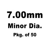 Lash Cap, HT Steel, 7.00mm Minor Dia.,Pkg. of 50