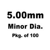 Lash Cap, HT Steel, 5.00mm Minor Dia., Pkg. of 100