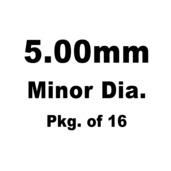 Lash Cap, HT Steel, 5.00mm Minor Dia., Pkg. of 16