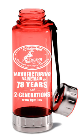 Custom BPA-Free Acrylic/ Stainless Steel Sport Bottle, Red, 23oz. picture