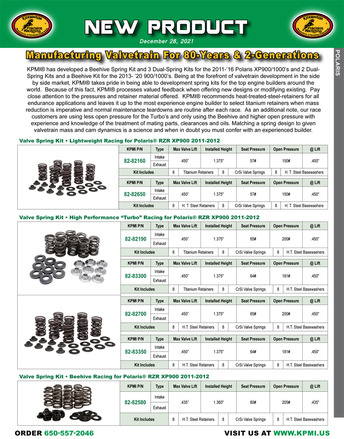 Flyer for Polaris® 900/1000's Valve Spring Kits picture