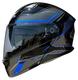 Vega Caldera 2 Modular Motorcycle Helmet (Blue Blade, X-Large)