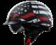 Vega Warrior Half Helmet (Back the Red, X-Small)
