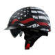 Vega Warrior Half Helmet (Back the Red, X-Large)