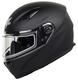 Vega Ultra II Full Face Helmet with Dual Lens Snow Shield (Matte Black, Large)