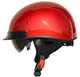 Rebel Warrior Velocity Red Half Helmet S