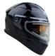 Vega Caldera 2 Modular Snowmobile Helmet (Gloss Black, Medium)