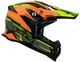 Vega MCX Adult Off-Road Helmet (Orange Stinger, Small)