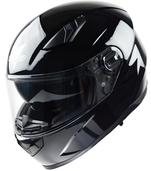 Vega Ultra Max Full Face Helmet (Gloss Black, Large)