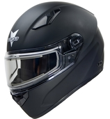 Vega Ultra Full Face Snowmobile Helmet with Heated Snow Shield (Matte Black, 5X-Large)